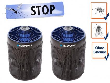 2er Set USB Insektenvernichter mit UV LED & Ansaugventilator, Wirkungskreis 30m²
