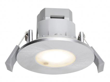 LED Einbaustrahler Decke rund Ø 8, 5 cm Aluminium gebürstet 5, 5W IP65 Badleuchten