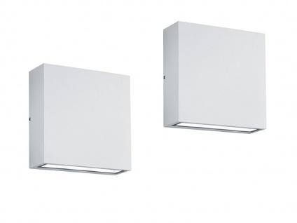 LED Wandleuchte 2er Set für Außen & Innen weiß UP/DOWN - Fassadenbeleuchtung - Vorschau 2