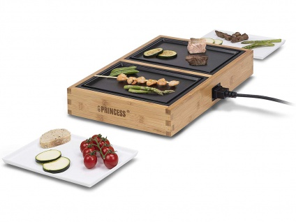 Teppanyaki Grill für 2 Personen, erweiterbar Japanischer Elektrogrill Tischgrill