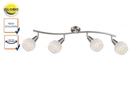 LED Deckenlampe 4flammig Lampenschirme Glas, Deckenleuchte Strahler Wohnraum