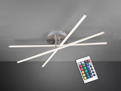 LED Deckenleuchte STRADA mit RGBW Farbwechsler & Fernbedienung 3 Arme schwenkbar