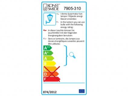 2Stk Konstsmide Energiespar Außenwandleuchte MONZA, Wandlampe Uplight Downlight - Vorschau 3