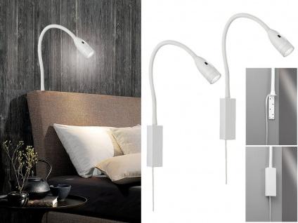 2x LED Leselampen Weiß dimmbar Bettlampen Leuchten für Kopfteil Sofa Wandmontage