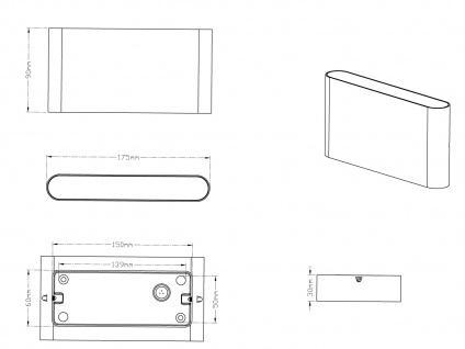 LED Außenwandlampen SET Anthrazit mit Up and Down Wandleuchten für Außenbereich - Vorschau 4