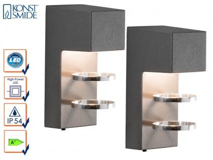 2er-Set Außenwandleuchten ACERRA anthrazit 5 Watt LED 400 Lumen IP54 - Vorschau 1