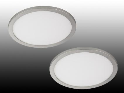 Dimmbare LED Deckenleuchten im 2er SET - flache & runde Badlampen, Ø 60cm, IP44
