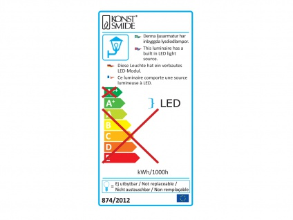 Wandleuchte MATERA, anthrazit, 4 Watt HP-LEDs, 450 Lumen, 3000K - Vorschau 3