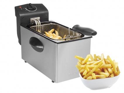 Tristar Edelstahl Fritteuse 2000W, 3 Liter, Kaltzonen Elektro Fritteuse Friteuse - Vorschau 2