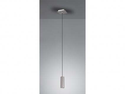 LED Pendelleuchte für Wohnzimmer, Schlafzimmer, Küche & Flur, Metall Silber matt