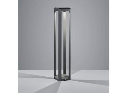 Klassische ALU LED Außenlampe H80cm Stehlampe für Garten & Terrasse in anthrazit