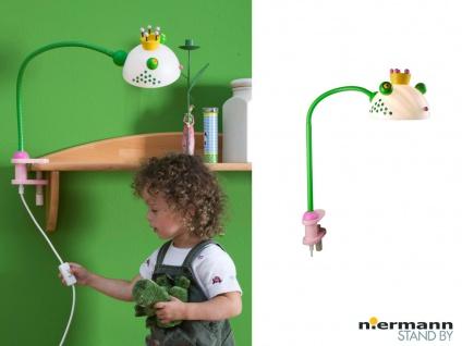 Klemmlampe FROSCHKÖNIG mit Flexarm Schreibtischlampe Kinderzimmer Beleuchtung