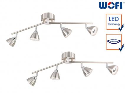 2 LED Deckenbalken Nickle matt 4 Spots schwenkbar Deckenstrahler Deckenleuchten