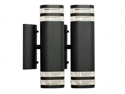 2er-Set Up-Down Wandleuchte MODENA Aluminium schwarz GU10 H: 28, 5cm
