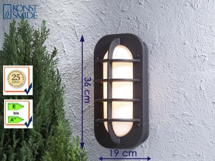 Außenwandleuchte mit Steckdose, Lampe Terrasse Fassade Hauswand, Konstsmide