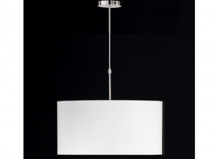 Hängeleuchte, Nickel, Stoffschirm weiß, Ø50cm, Honsel-Leuchten, MARIE