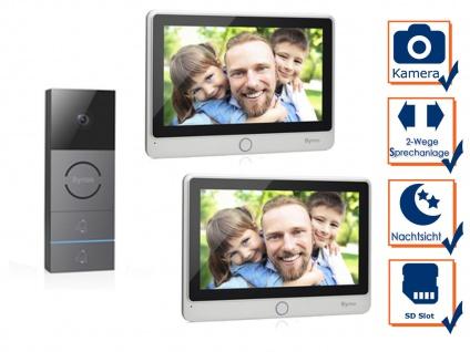 Video Türsprechanlage mit Nachtsichtkamera & 2x Touchscreen für Zweifamilienhaus