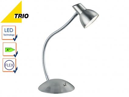 LED Tischleuchte Schreibtischlampe KOLIBIR Nickel matt Höhe bis 35 cm