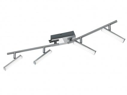 Klassischer LED Deckenstrahler Nickel matt 4 Spots schwenkbar - Wohnraumleuchten