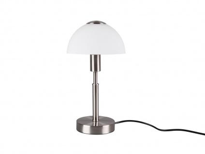 LED Tischleuchte mit Touch Dimmer, Fuß in Silber matt & Opalglasschirm Höhe 33cm - Vorschau 5