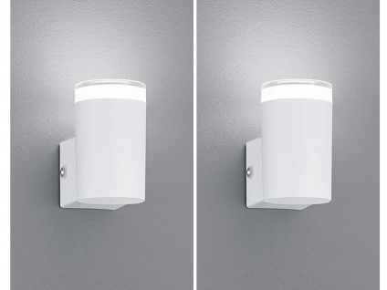 2er SET Fassadenbeleuchtung UP Light Außenwandlampen in Weiß LED Leuchten außen