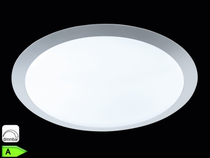 TRIO Dimmbare LED-Deckenlampe, ink. 25W LED, 1500Lm, Ø 42cm, titanfb.