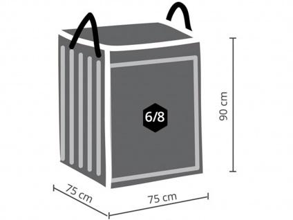 Schutzhüllen Set: Abdeckung 140x140cm für Garten Lounge + Hülle für 6-8 Auflagen - Vorschau 4