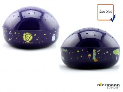 2er Set LED Nachtlicht Baby, projiziert Sterne ins Kinderzimmer Schlummerlampe - Vorschau 1