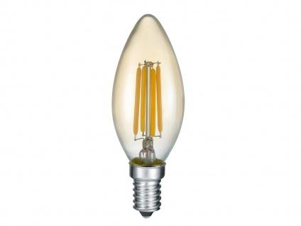 Kerzenförmiges LED E14 Leuchtmittel warmweiß nicht dimmbar mit 4W & 360lm, Glas
