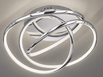Dimmbare LED Design Deckenleuchte chrom 62, 5cm, Deckenlampe für Flur Wohnzimmer