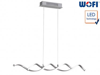 LED Pendelleuchte Nickel, Länge 88cm, LED Hängeleuchte Pendel Deckenbeleuchtung
