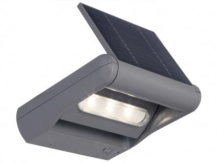 2er Set LED Außenwandleuchte Solar dimmbar & drehbar IP44 Solarlampe Garten - Vorschau 3