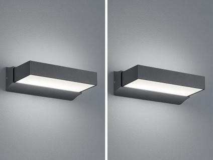 2er SET LED Wegeleuchte Terrassenlampe aus ALU in anthrazit für außen IP65 H7cm