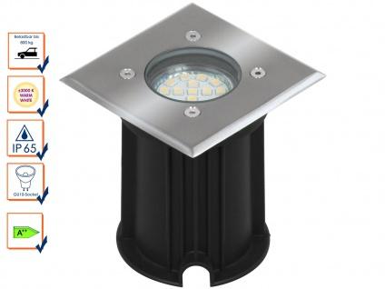 LED Bodeneinbaustrahler für Außen, eckig, befahrbar bis zu 800 kg