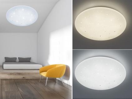 Dimmbare LED Deckenleuchte, Deckenschale mit Fernbedienung Sternenhimmel Ø60cm