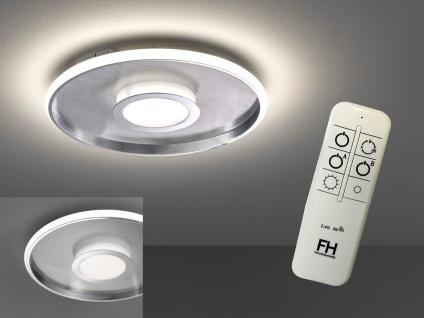 Große LED Deckenleuchte BUG rund Ø81cm mit Fernbedienung - Silber matt & Chrom - Vorschau 3