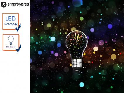 LED Deko Leuchtmittel Birne E27, Stimmungsleuchtmittel 3D-Effekt, Partylicht