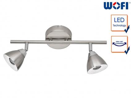 LED Deckenbalken Nickle matt 2 Spots schwenkbar 9W Deckenstrahler Deckenleuchte