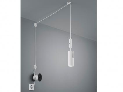 Hängelampe Weiß matt mit Kabel & Stecker für Steckdose Spot schwenkbar Leselicht