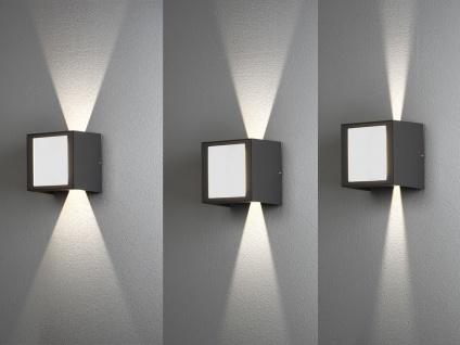ALU LED Wandlampe in anthrazit für außen Lichtaustritt 0°-90° verstellbar IP54 - Vorschau 4