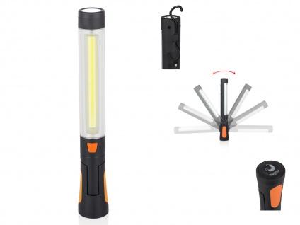 Multifunktionales Arbeitslicht - LED Handleuchte mit Haken, Magneten & Batterie