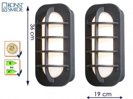 2er Set Außenwandleuchte Wandlampe schwarz, Lampe Terrasse Hauswand, Konstsmide