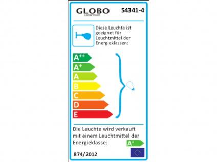 LED Deckenlampe 4flammig Lampenschirme Glas, Deckenleuchte Strahler Wohnraum - Vorschau 4
