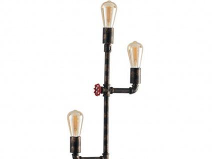 Außergewöhnliche LED Stehlampe Industrial Design mit Wasserrohr Rostoptik antik - Vorschau 2