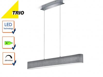 Trio Stoffschirm LED Pendelleuchte LUGANO dimmbar, Lampe Esstisch Küchenlampe