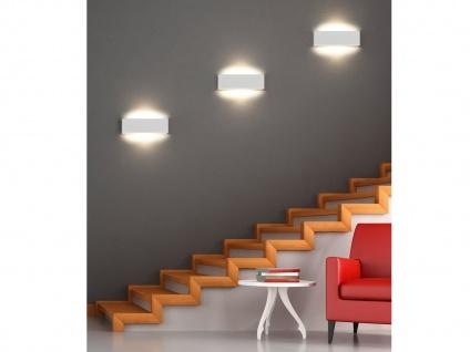 Flache dimmbare LED Wandlampe Up and Down Light in Weiß matt 28cm - Flurleuchten
