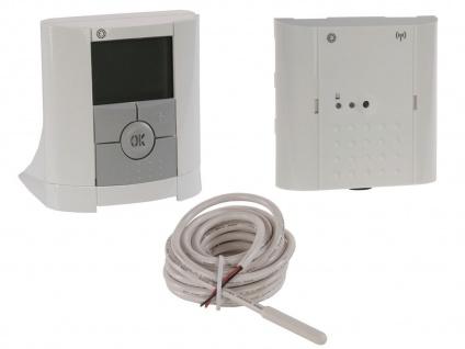Vitalheizung Set: Thermostat / Funk Raumthermostat, Empfänger, Fußbodenfühler - Vorschau 1