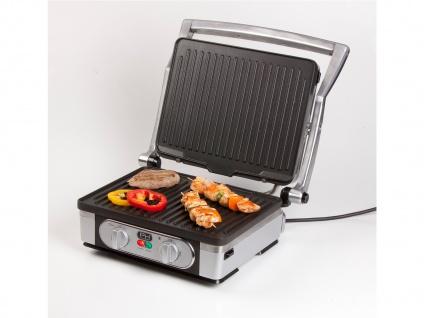 Kontaktgrill Tischgrill Grillzange, abnehmbare Platten Paninimaker 1800W 29x23cm - Vorschau 4