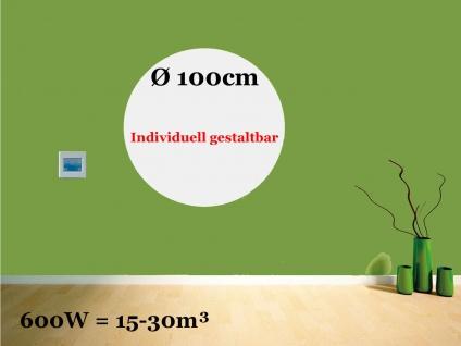 Heizpaneel rund, Infrarotheizung 600W, Ø 100cm, IP44, Vitalheizung