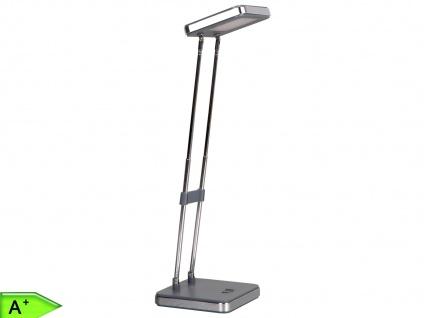 Eckige LED Schreibtischleuchte 2, 5W, grau, doppelt schwenkbar, Ranex